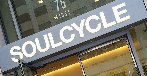 A SoulCycle studio in San Francisco, Calif.
