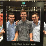 Nov. 2015: The Blurr team at NEXPO (Northeastern's entrepreneurship expo) where disposable cameras were used to validate the core idea behind Blurr