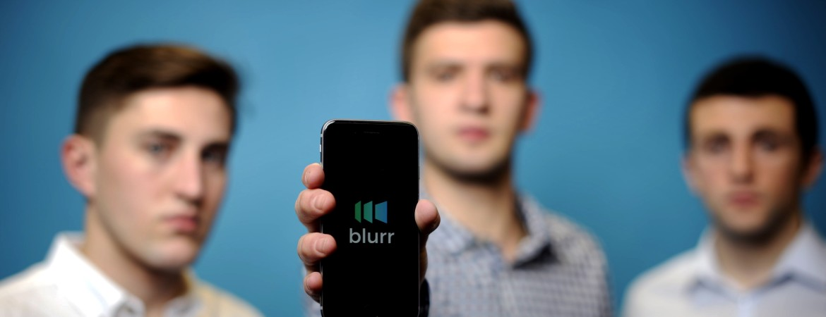 Blurr founders Sam Marley, Daniel Arvidsson and Dan Korman