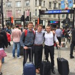 Arvidsson, Marley and Korman last summer in London to pitch Blurr to investors